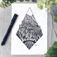 Swedish illustrator Josefine Svärd creates fantastical stippling art that captures the beauty of nature. Each pen drawing is composed of millions of tiny hand-drawn dots, bringing them to life in intricate detail. Hobbit Tattoo, Tolkien Tattoo, Lotr Tattoo, Cool Tattoos Pictures, Wall Art Pictures, Ring Tattoos, Sleeve Tattoos, Tatouage Tolkien, Lord Of The Rings Tattoo