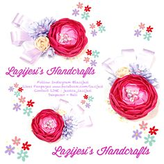 Follow Instagram @Jessica Raissa Irawan Likes Fanpages www.facebook.com/lazijesi For Order Contact LINE : jessica_lazijesi Based In Bali Indonesia  All Flower Accessories is Handmade by Lazijesi's Handcrafts with High Quality and Original Creation!