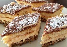 Cio-cio-san zákusok s vanilkovým krémom - Mňamky-Recepty. Romanian Food, Croissant, Nutella, Tiramisu, Cookie Recipes, Sweet Tooth, French Toast, Food And Drink, Sweets