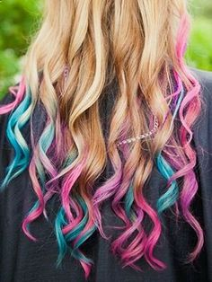 Lauren Conrad, Nicki Minaj and Christina Aguilera have all added pops of pastel and rainbow color to their hair.