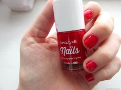 Beauty UK Cosmetics | Lipstick   Nail Polish | Review | Head to www.lovemaisie.com for more beauty review's! #BeautyUK #bbloggers Post Box Red, Red Nail Polish, Dry Nails, Beauty Uk, Beauty Review, Lipstick, Cosmetics, Bottle, How To Make