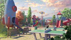 Ping-pong by Tohad on DeviantArt Art Environnemental, Artist Art, 2d Art, Visual Development, Environment Design, Environmental Art, French Artists, Landscape Art, Illustration Art
