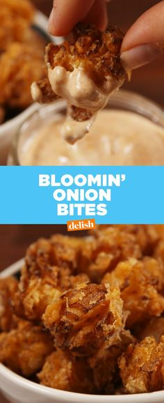 If you love Outback Steakhouse's bloomin' onions, prepare to FREAK over these bites. Get the recipe at Delish.com.