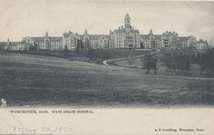Worcester, Mass. State Insane Hospital, circa 1905.