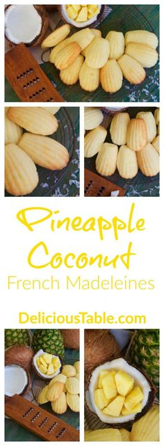 Tropical Pineapple Coconut French Madeleines are sweet and moist. Pack for picnics, in school lunch boxes, and enjoy with breakfast tea or coffee.