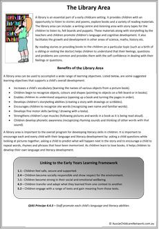 Library Area Classroom Posters – Roxana I. Play Based Learning, Learning Through Play, Early Learning, Quotes About Children Learning, Learning Quotes, Early Education, Childhood Education, Eylf Learning Outcomes, Learning Stories Examples