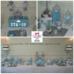 "University of Texas ZTA - ""Tiffany"" inspired candy buffet for Mom's Weekend"