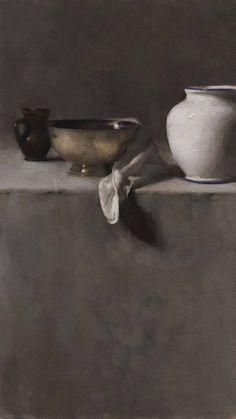 petitpoulailler:    tekiela: 2005Dana Levin (American, contemporary) ~ Vertical Still Life in Greys