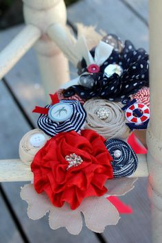 Nautical Maternity Sash Red Navy Beige by DaintyBugsBoutique, $57.85