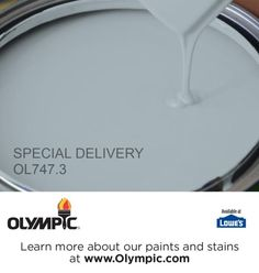 SPECIAL DELIVERY OL747.3 is a part of the aquas collection by Olympic® Paint.