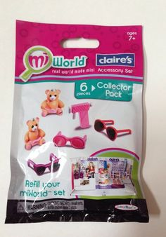MiWorld Claire's Store Accessory Playset Refill Collector Pack New #JakksPacific