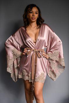 Amoralle - Illustrious Silk Kimono via Anya Lust