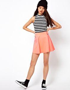 River Island Jersey Skater Skirt £16
