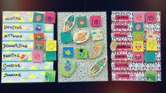 Hier gibts die Idee zu einem Wochenkalender für Kinder, mit dem sich die Woche leicht und lustig erklären lässt! Mehr Bastelideen auf: meine-kinder.at