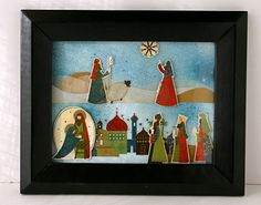 Li'l Buck's Creations: Nativity Shadow Box Scene: Authentique and Paper Studio
