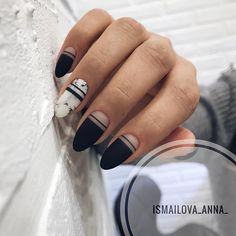 Bling Art False Nails French Fake Matte Black Squoval 24 Medium Tips Glue - Cute Nails Club Dream Nails, Love Nails, My Nails, Pink Nails, White Nail Designs, Nail Art Designs, Nails Design, Stylish Nails, Trendy Nails