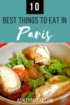 10 Best Things to Eat in Paris, from the obvious (macarons) to some more obscure treats (Boudin Noir). Paris offers so many incredible dishes to choose from that you could spend years in the city sampling the delicious food and not try everything. Use this list of my favorite dishes to eat in Paris to get started | Ashley Abroad