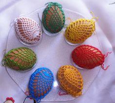 koszulki szydełkowe na jajka wielkanocne - Malwina K. - Webové albumy programu Picasa
