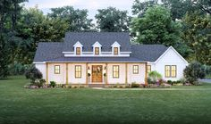 This modern farmhouse gives you Southern details and lots of style. Check out the open floor plan. Use code GETSOCIAL for 10% off your house plan (some exclusions apply). Questions? Call 1-800-447-0027 today. #architect #architecture #buildingdesign #homedesign #residence #homesweethome #dreamhome #newhome #newhouse #foreverhome #interiors #archdaily #modern #farmhouse #house #lifestyle #design #buildersareessential Family House Plans, Best House Plans, House Floor Plans, Modern Farmhouse Plans, Farmhouse Design, Country Farmhouse, Madden Home Design, Local Builders, Build Your Dream Home