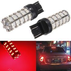 2.5W DC12V 3528 68 LED SMD Red Brake Stop Light Bulb. Description:    this Listing Features 2 Pieces Of Brand New, Red 3528 68-smd Led Bulbs.  3528 Dual Intensity Type Lamp With 68 High Power Smd Led  360 Degree Viewing Angle Eliminates Hot Spots Maximizing Assembly Housing Illumination.  most Vehicle Applications Required 2 Bulbs  energy Saving Long Lasting; Easy To Install, Plug And Light; Fast Response    specifications:    voltage: 12v Dc  bulbs Type: 3528 Smd, Each Led Has 68 Smd In...
