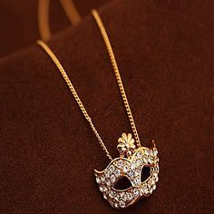 Flowers mask necklace – USD $ 2.99