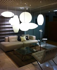 Tokyo's Resource for Modern Living: Royal Furniture Collection | George Nelson Bubble Lamps | http://modernica.net/lighting/pendant/