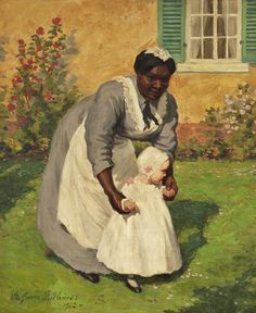 Lee Greene Richards (1878–1950) Nanny Holding a Baby 1911   While browsing the blog American Gallery , I was stopped short by the painting...