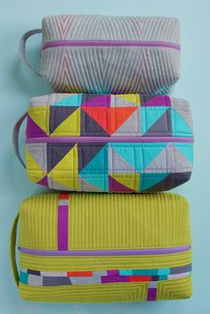 Sew Katie Did | Seattle Modern Quilting and Sewing Studio | Patchwork Box Pouches Workshop