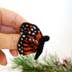 Butterfly brooch Needle felted butterfly Butterfly by CraftsByKeri, $16.00