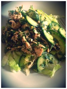 Lime Chicken Salad, Szechuan Style, 'The Fast Diet Recipe Book'