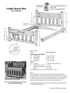log furniture plans | New Log Furniture Plans Now Available