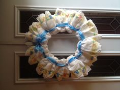 Cute wreath for a friend's baby shower!
