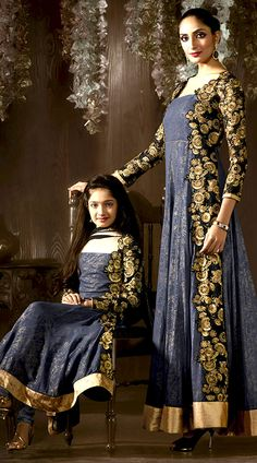 Like mother, like daughter. Mother and daughter matching outfits are another fun way to show how much you love your littile girl Top - Simmer Jacquard Bottom - Santoon Dupatta -Chiffon
