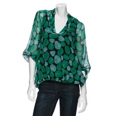 $310 NWT Beautiful DIANE VON FURSTENBERG Silk Blouse w/Black Silk Cami sz 2 #DianevonFurstenberg #ButtonDownShirt