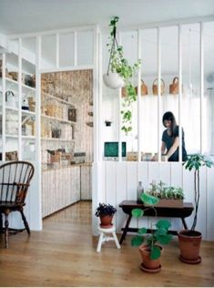 Home Interior Design — All the light and the prospect of an open kitchen. Home Interior, Kitchen Interior, Interior Design, Interior Plants, Interior Windows, Living Spaces, Living Room, Kitchen Living, Funky Kitchen