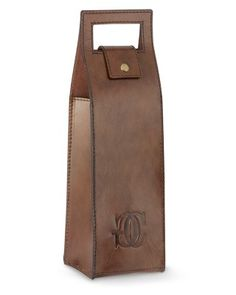 Williams-Sonoma Leather Wine Bag #williamssonoma  I like the shape...now to develope a pattern and make it with quilt pieces!
