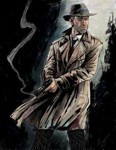 Noir Detective Art Print