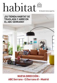 Campaña de publicidad en quioscos para dar a conocer la nueva dirección de la tienda Habitat en el centro comercial de ABC Serrano en Madrid.