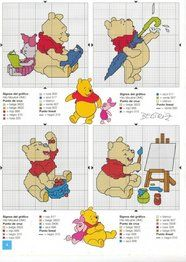 Pooh Bear - Cross stitch gift!