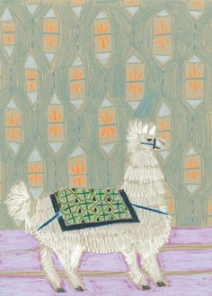"After giving birth to my daughter this past November, I've had a lot of fun experimenting with this new series on paper during her nap times! Working my way through the alphabet, this little llama is a signed copy of an original mixed media work made with a mixture of water soluble crayons, pastels, and watercolor pencils!  ______   Dimensions of Print: 9 x 12"" Stock: 100lb White Stock"
