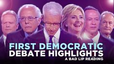 You saw the video of the bad lip reading from the second Republican debate. Now here's the bad lip reading from the first Democratic debate and it's just as hilarious. Pray For Trump, First Debate, Trump Wins, Trends, I Laughed, Einstein, Las Vegas, Laughter, Youtube