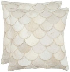 View the Safavieh DEC204A Rectangular Cream Elita Cowhide Pillow with Feather Filling from the Cowhide Collection at Build.com.