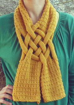 Knitting Pattern Braided Scarf -
