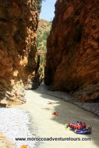3 day rafting adventure down the Ahansel river in Morocco