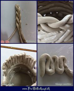 coil techniques Pottery Sculpture, Sculpture Clay, Pottery Handbuilding, Coiled Pottery, Coil Pots, Clay Tools, Hand Built Pottery, Ceramic Techniques, Pinch Pots