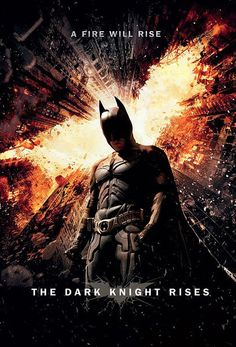 Póster Batman: The Dark Knight Rises, fuego