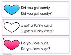 Valentine's Day literacy center. Write the sentence with the correct punctuation.