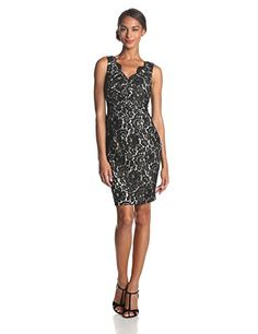 Eliza J Women's Sleeveless Surplice Lace Sheath Dress, Black, 4 Eliza J http://www.amazon.com/dp/B00J0S36YU/ref=cm_sw_r_pi_dp_56suub1TAX45C