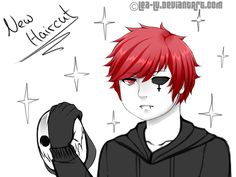 His New Haircut (Red Angel) by Lea-Lu on DeviantArt