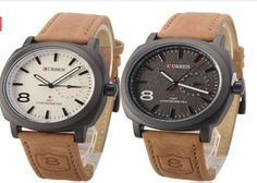 Get this Curren Japan Movement and water resistance Leather watch now! Click here: http://bit.ly/1O9DcrL
